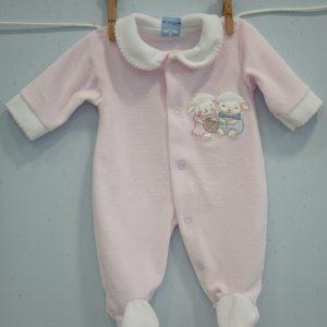pijama bebe terciopelo rosa