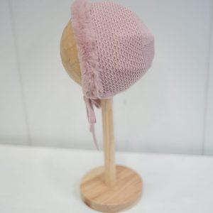capota de pelo rosa bebe