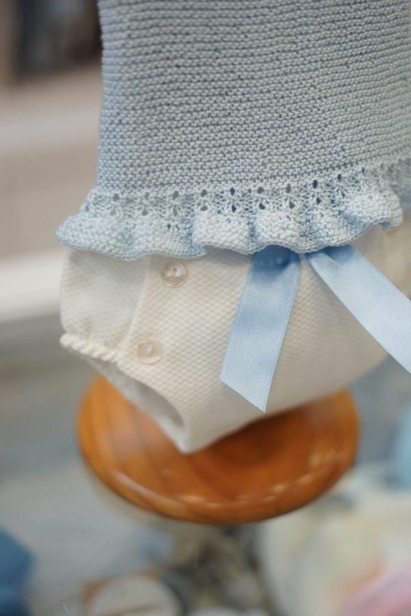 Jersey de punto volante hecho a mano