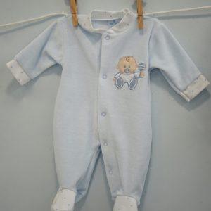 pijama terciopelo celeste