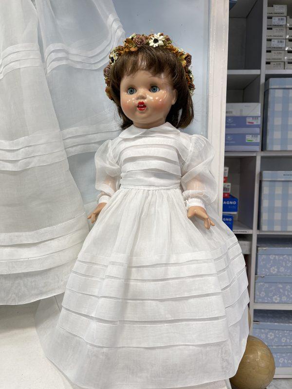 Vestido de Comunión para muñeca